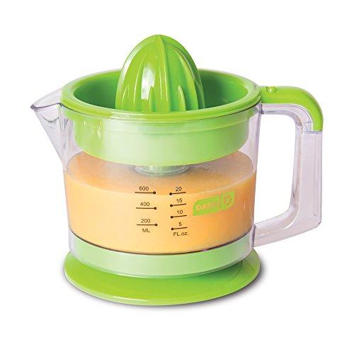 Dash Citrus Juicer Extractor: Compact Juicer for Healthy Juice, Oranges, Lemons, Limes, Grapefruit & other Citrus Fruit with Easy Pour Spout + 32 oz Pitcher - Green