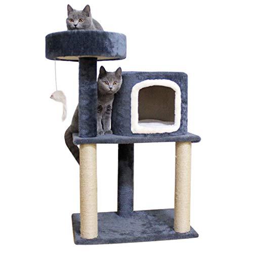 Árbol para Gato Centro Actividades Pequeño gato Rascador columpio Apartamento gato cáñamo cuerda de la litera del gato del gato del gato que salta gato Villa Torre gato de juguete Torre para Gatos