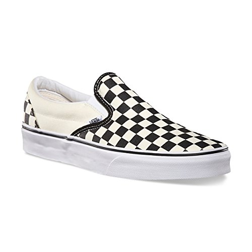 Vans Unisex Classic Checkerboard Slip On Shoes (12.5 Women/ 11 Men, Black/Off White/Checkerboard)
