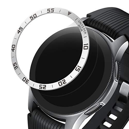 kwmobile Schutzring kompatibel mit Samsung Galaxy Watch (46mm) / Galaxy Gear S3 Frontier & Classic Fitnesstracker - Bezel Ring Lünette in Silber Schwarz