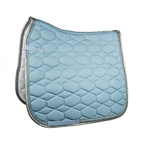 HKM Crystal Fashion Tapis de Selle pour Poney de Dressage Bleu