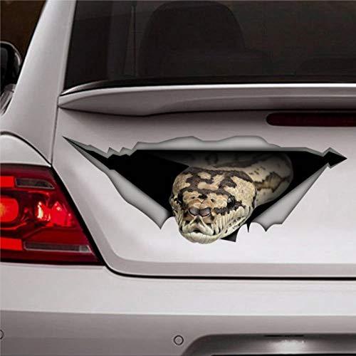 Tiger Python Auto-Aufkleber, Schlange Aufkleber, Haustier-Aufkleber, 3D-Aufkleber, lustiger Auto-Aufkleber, Fenster-Aufkleber, Vinyl, Stoßstangenaufkleber, Laptop-Aufkleber
