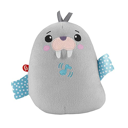 Fisher-Price Chill Vibes Walrus Soother, Take-Along Musical Plush Toy...