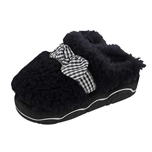 Anliyou dick Hausschlppen Damen Mädchen süß Cute Hausschuhe mit Schleife plüsch flauschig Pantoffeln Winter warm Hauspantoffeln Geschenke für Frauen bequem leicht Slippers