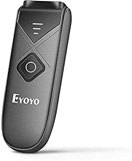 Eyoyo Portable 2D Wireless Bluetooth Barcode Scanner, Mini Barcode Reader with USB Wired/Bluetooth/ 2.4G Wireless Connecti...