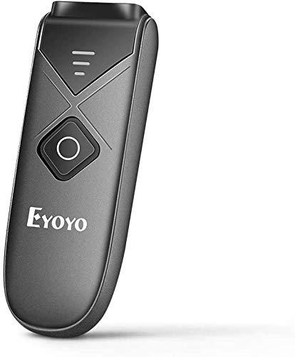 Eyoyo Barcode Scanner Bluetooth, Barcodeleser Wireless 2.4GHz mit USB Kabel 3 in 1 1D 2D QR PDF4 Barcodes Handscanner Tragbarer für iPad,iPhone,Android,Tablets,PC