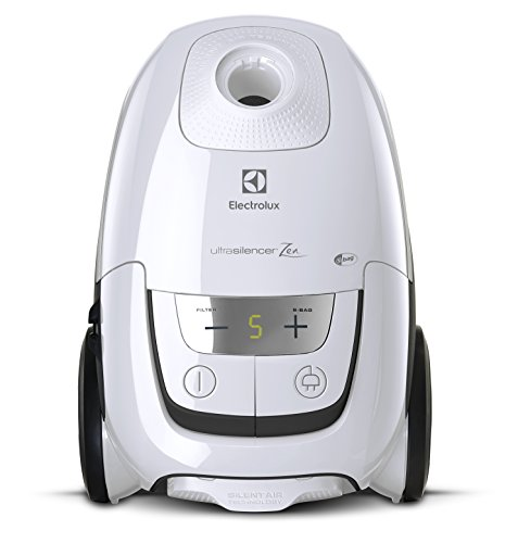 Electrolux eus8alrgy Staubsauger mit Beutel, UltraSilencer, Silent Zen, Absaugsystem AeroPro, Tasche S-Bag Clinic Anti Allergy, System Motion Control, Ice White, Polycarbonate, 3.5 liters