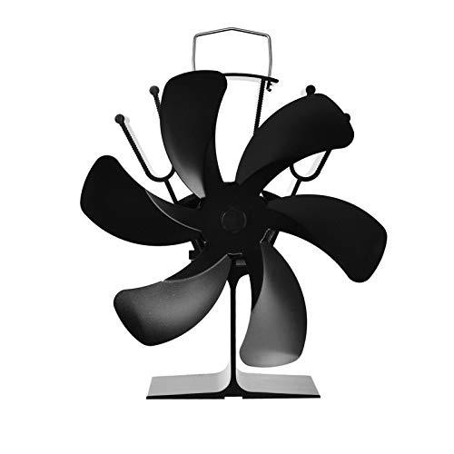 Retinue Ofenventilator Ohne Strom Ofenrohr 6-Blatt Kaminventilator Kaminrohr Kaminofen Ventilator Stromloser Ventilator Für Kamin Holzofen