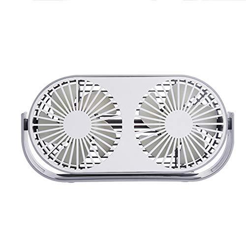 NCBH Mini-ventilator, draadloos, USB-ventilator, dubbele kop met tabletten voor aromatherapie, draagbare ventilator, koeler voor thuis, kantoor, outdoor, reizen