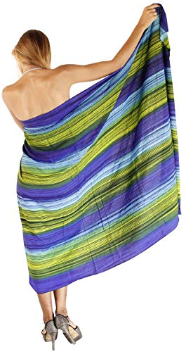 LA LEELA rayón Larga Trajes de baño de Las Mujeres del Lazo Sarong Pareo Tie Dye