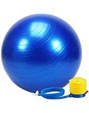 Wazdorf Anti-Burst Exercise Gym Ball 75cm with Pump, Anti-Slip Balance Stability Ball, Heavy Duty Fitness Yoga Ball, Extra Thick Swiss Birthing Ball, Exercise Equipment for Home, Exercise Ball