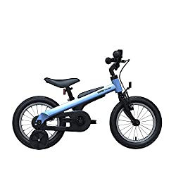 small Segway Ninebot Kids Bike, for boys and girls, 14 inches, with training wheels, blue