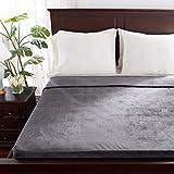 Berkshire Blanket VelvetLoft Blanket | Ultra Soft Cozy Plush Blanket | All-Season Warmth | Smoke Grey | Full/Queen (90' x 90')