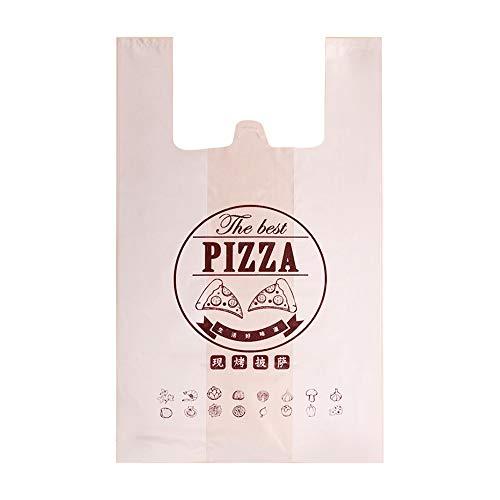 Guoda Plastiktüten-Tragetaschen Pizza Packtasche | 7 Zoll 9 Zoll 10 Zoll 12 Zoll | Für Lebensmittel, Verpackungen Zum Mitnehmen Usw. Hemdchentragebeutel (Size : 32x56cm)