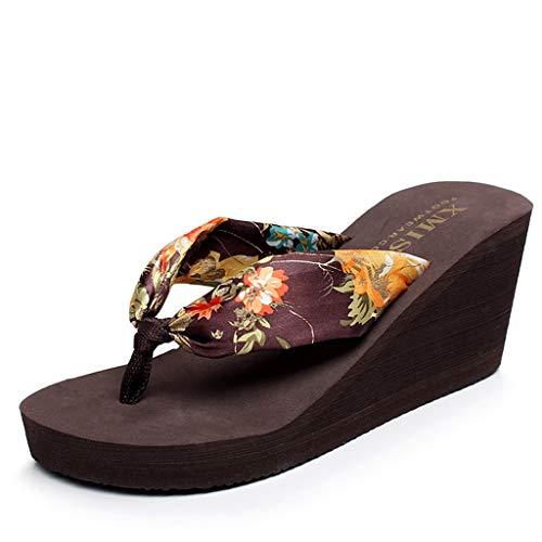 DIPOLA Damen Flip-Flops Simian Muffin Strandschuhe mit dicken Sohlen Damen Hausschuhe Frauenschuh