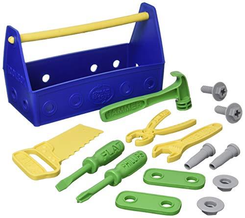 Green Toys Tool Set, Blue 4C - 15 Piece Pretend...