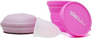 comprar comparacion Pack Sileu Travel: Copa menstrual Rose - Modelo de iniciación - Talla S, Transparente, Flexibilidad Standard + Estuche de ...