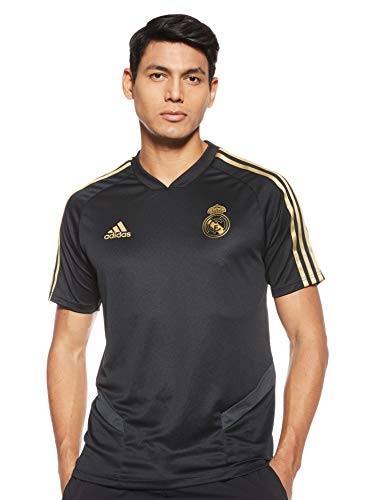 adidas Herren Real Madrid Trikot REAL TR JSY, Negro/Orfúos, L, DX7848