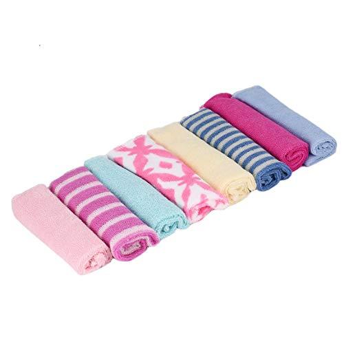SeniorMar 8 Piezas bebé recién Nacido niños Toalla de baño paño de baño paño de alimentación paño Suave FT Kit Suave Buen Cuidado Colorido cómodo