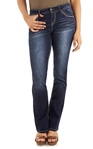 WallFlower Women's Juniors Classic Legendary Stretch Bootcut Denim Jeans in Amy, 13