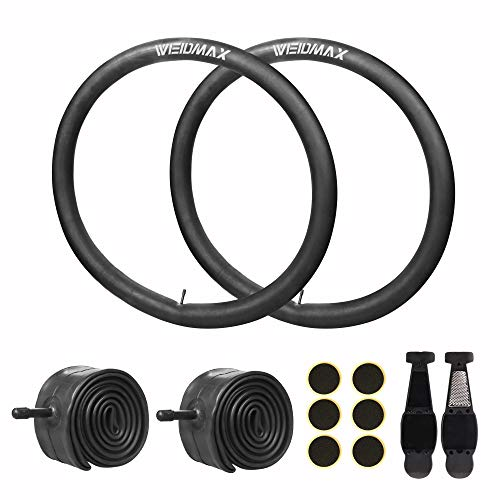 26 Inch Bike Tube, 26'' x 1.95/2.10/2.125 Replacement Inner Tire Tubes 2 Pack, Heavy Duty Thorn Resistant Inner Tire with Repair Tool Kit for Most Adult Bikes, Premium Quality Butyl Rubber Made