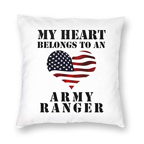 BK Creativity Throw Pillow Covers,My Heart Belongs To An Army Ranger Cushion Cases,Decorative Pillow Covers For Home Computer Use,40 * 40cm