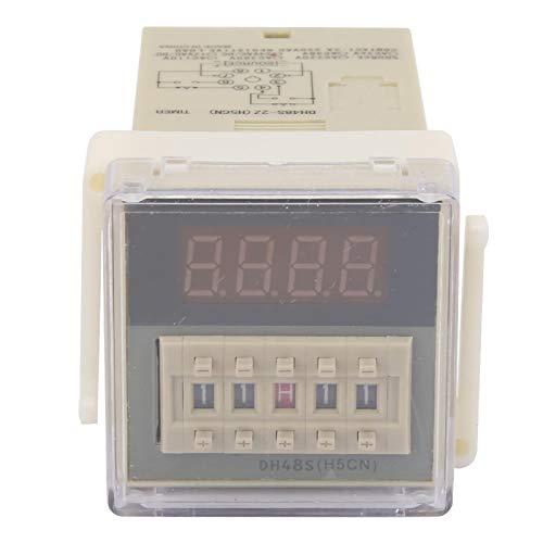 Relé de retardo de Tiempo, O111ROM 0.01S-9999H Relé de Tiempo de 8 Pines DH48S-2Z para lámparas de Carretera para Vallas publicitarias Exteriores para talleres de fábrica(110VAC)