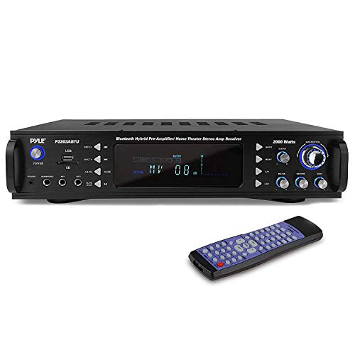 Pyle 4-Channel Bluetooth Audio Stereo Receiver