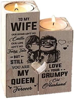 Candle Holder for Wife You are My Queen Forever Gift for Birthday Anniversary for Wife from product image