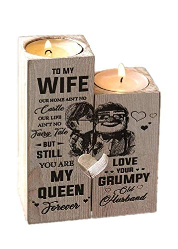 Candle Holder - for Wife - You are My Queen Forever - Gift for Birthday, Anniversary, for Wife from Husband