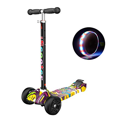 Best Bargain PLLP Outdoor Sports Scooter Kick,Kids' Kick for 2-16Yr Boys, Adjustable Handle Grip wit...