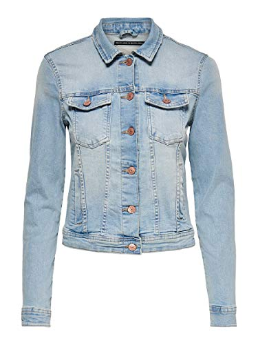 ONLY Female Jeansjacke Kurze 42Light Blue Denim