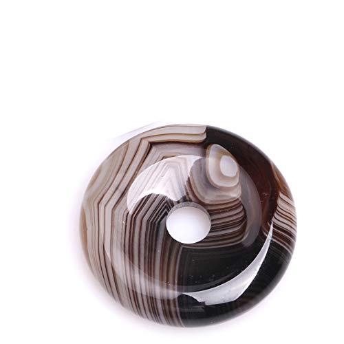 JOE FOREMAN 30mm Natural Semi Precious Donuts Rings Coffe Brown Onyx Sardonyx Agate Gemstone Beads for Jewelry Making Strand 15