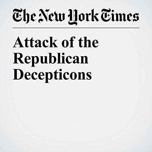 Attack of the Republican Decepticons copertina