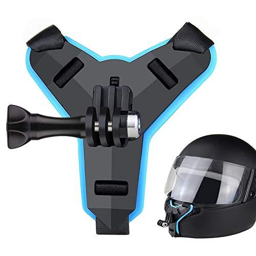 DYHQQ Soporte para Correa de Barbilla para Casco de Motocicleta Compatible con GoPro Hero 7, (2018), 6 5 4 3, Hero Black, Session y iPhone Soporte para teléfono Samsung Huawei Mount
