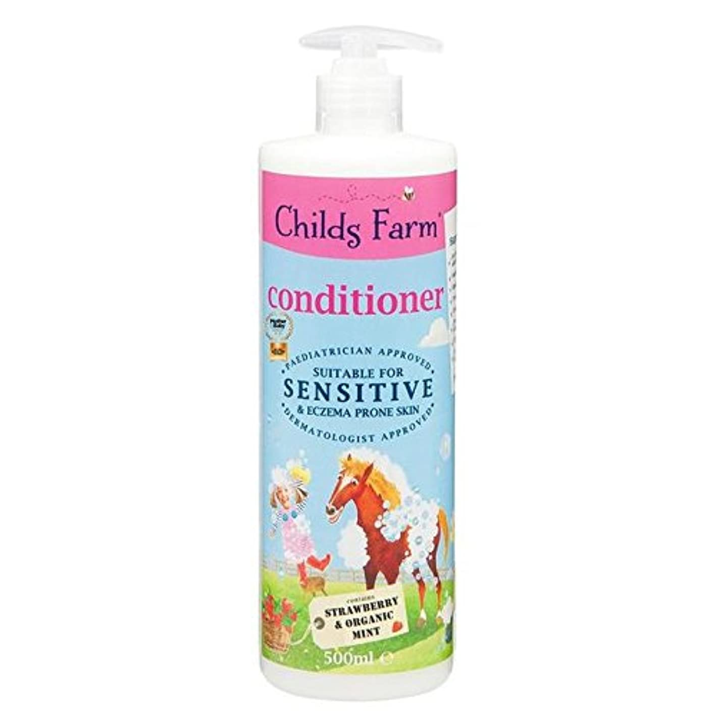 背骨シンク変わるChilds Farm Conditioner for Unruly Hair 500ml - 手に負えない髪の500ミリリットルのためのチャイルズファームコンディショナー [並行輸入品]