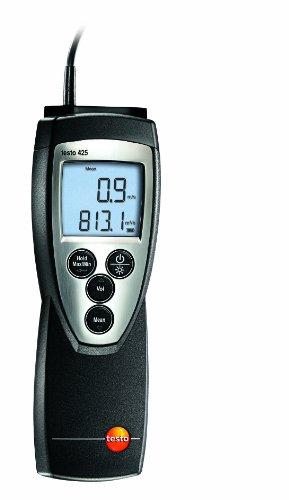 Testo SE & Co.KGaA Testo 0560 4251 425 kompaktes thermisches Anemometer mit fest angeschlossener Strömungssonde, inklusive Temperaturmessung und Teleskop