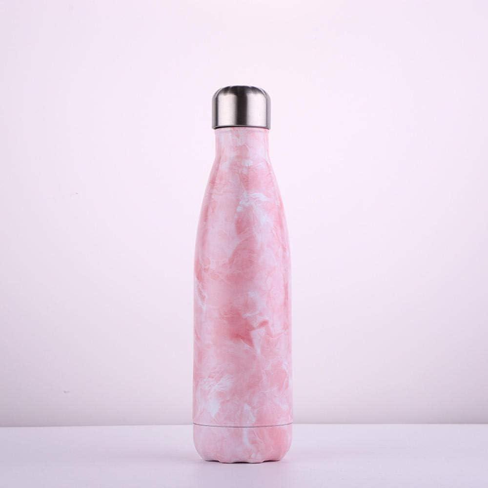 Botella Agua Cola Botella Termo Taza Doble Vacío Acero Inoxidable Deportes Al Aire Libre Botella-Sakura Polvo_500Ml