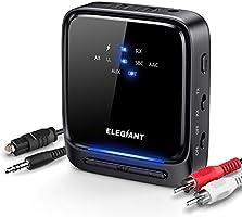 ELEGIANT Transmisor Bluetooth 5.0, Receptor Inalámbrico 2 en 1 Audio HD de Baja Latencia con Toslink Óptico/SPDIF para...