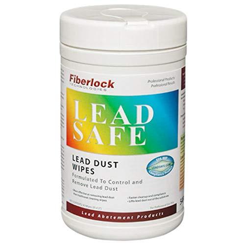 FIBERLOCK Dust Wipes, Lead-Based Paint Multi-Surface Cleaner, Lead...
