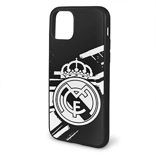 Fashion888 Real Madrid White Compatible para iPhone 11 12 Pro MAX XR XS MAX 6/7/8 Plus SE 2020 Funda para teléfono Negra Funda para teléfono móvil