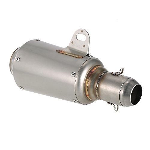KKmoon 51mm Frosted Scarico del Silenziatore del Tubo con la Coda Net Universale per moto ATV, 3 Stile