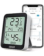 Govee 温湿度計 デジタル 温度 湿度 高精度 スマホで温湿度管理( ハブ不要)熱中症対策 インフルエンザ対策 梅雨対策 LCD大画面 最高最低温湿度 温湿度異常通知 快適度表示 グラフ記録 Bluetooth 室内 置掛兼用