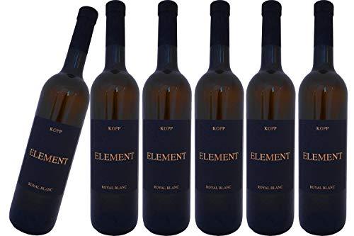 Element Royal Blanc edler Wein (weiß) mit Korkverschluß vom Weinhaus Kopp Pfalz (6 x 0,75l)
