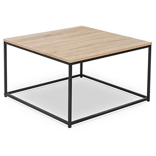 IDMarket - Table Basse carrée Detroit Design Industriel