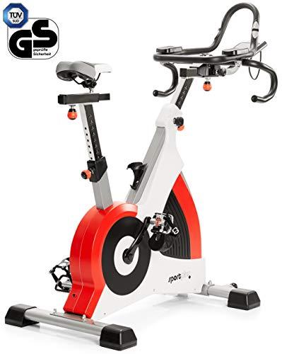 SportPlus Speedracer, TÜV-geprüft, Indoor Cycling Bike in Studioqualität, 50 Widerstandsstufen, Triathlonlenker & Rennsattel, Ergometer bis 500 Watt, Benutzergewicht bis 150 kg, SP-SRP-3000