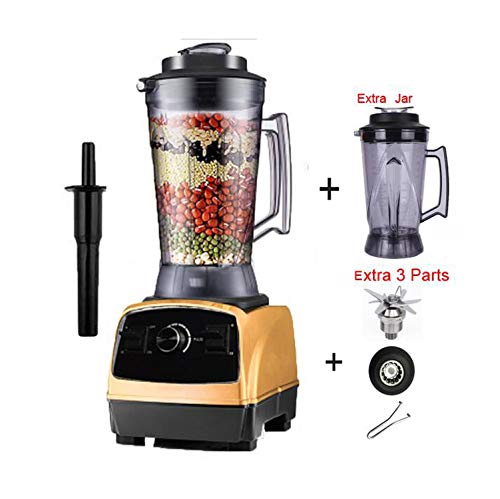 2800W 4.0L commercial professional smoothies powerful blender food mixer juicer with german motor technology,gold 3parts jar lid1,US Plug