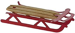 International Miniatures Dollhouse Miniature Red Flyer Sled by