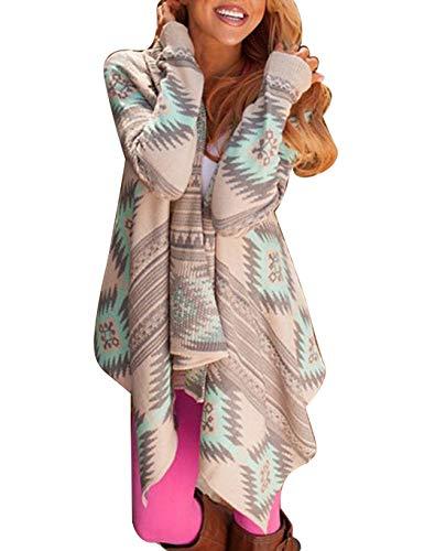 BALALA gebreide damesjas gebreid sweatshirt extra groot losse outwear mantel lange mouwen shirt waterval gebreide mantel met zak asymmetrisch cardigan waterval jas