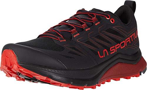 La Sportiva Mens Jackal Trail Running Shoe, Black/Poppy,...
